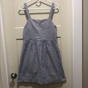 Loft blue and white stripe dress